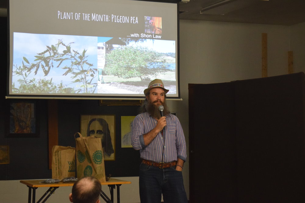 Shon Law discussing the many benefits of pigeon pea