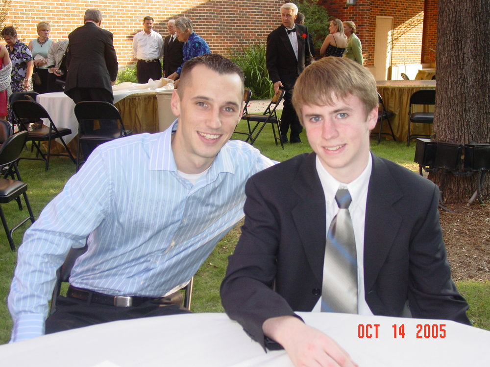 Wally (on the left) with our other cousin Nathan at Laurie's wedding