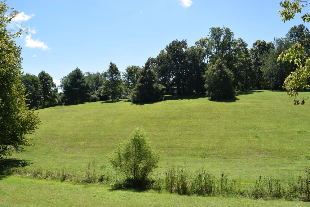 This hill is an old favorite for sledding in winter snows.