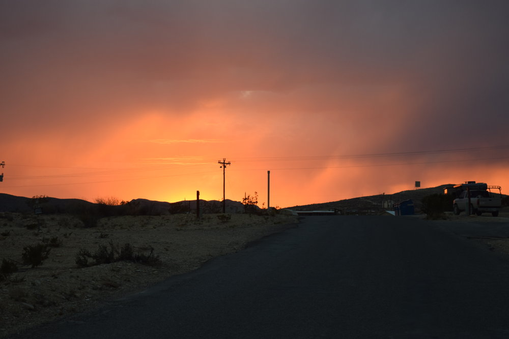 Sunset over Terlingua