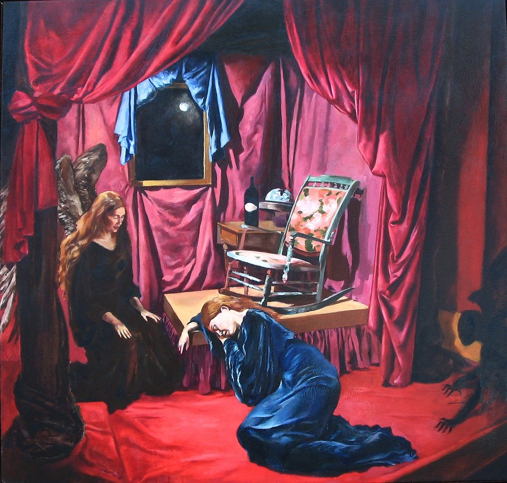 An Annunciation   38 x 36  OIl on Linen  2006