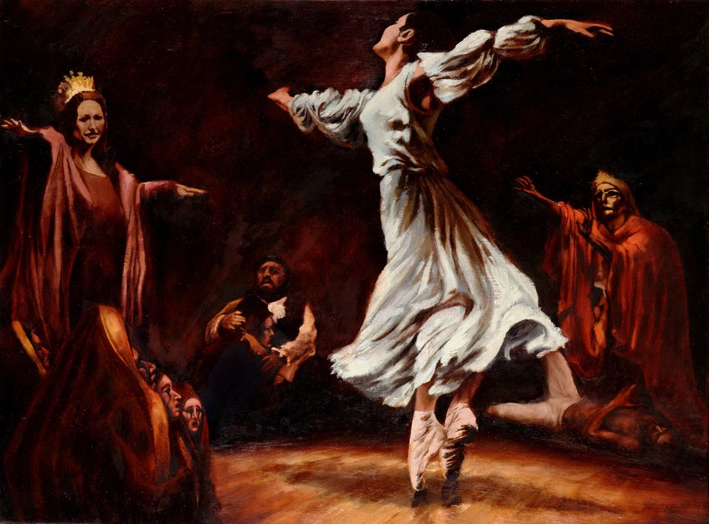 The Dance of Salome   18 x 24  Oil on Canvas  2008