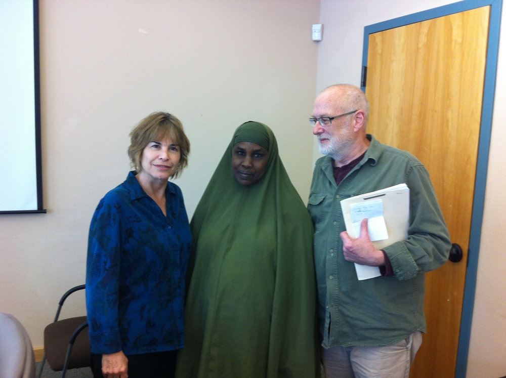 Cheryl at the Immigrant and Refugee Community Organization.