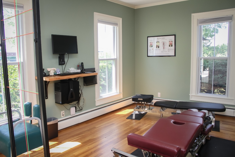 Dr. Wolfe's adjusting area at Wolfe Family Chiropractic Metamora
