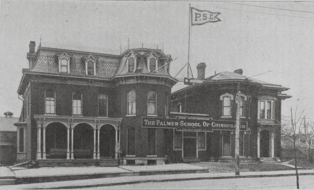 The original Palmer School of Chiropractic