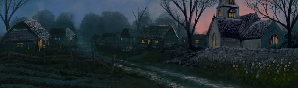 Farmstead in the Evening, by Amanda Spaid