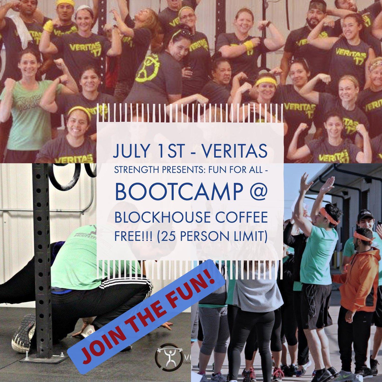 bootcamp in the backyard with veritas strength u2014 blockhouse coffee