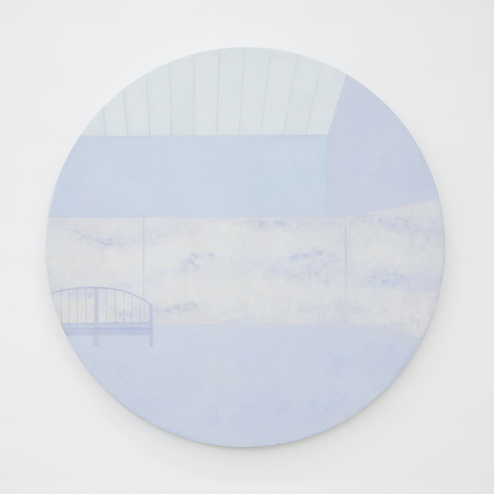 Richard Osterweil Monet Studio - Nymphéas- Pale Blue, 1983-1984 Oil on canvas 36.5 x 36.5 inches