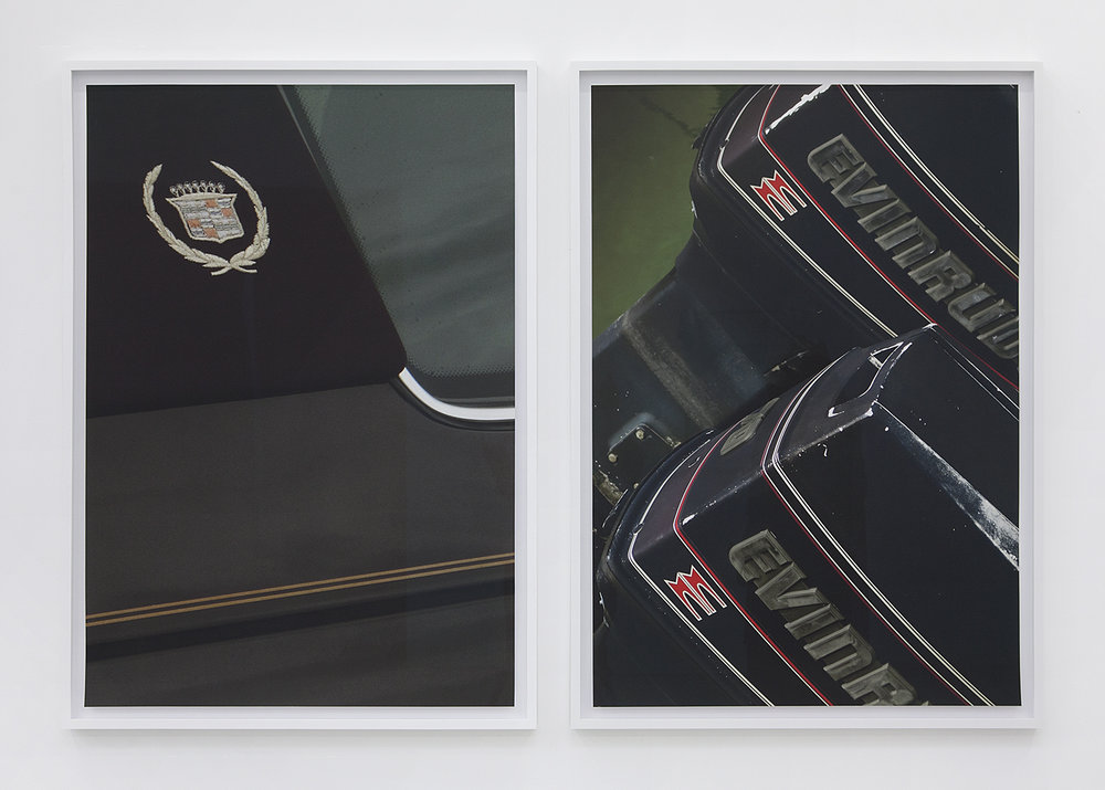 Colin Snapp  E.S. Cadillac 2 / E.S. Evinrude , 2014 Archival pigment print on cotton rag 44 x 30 inches