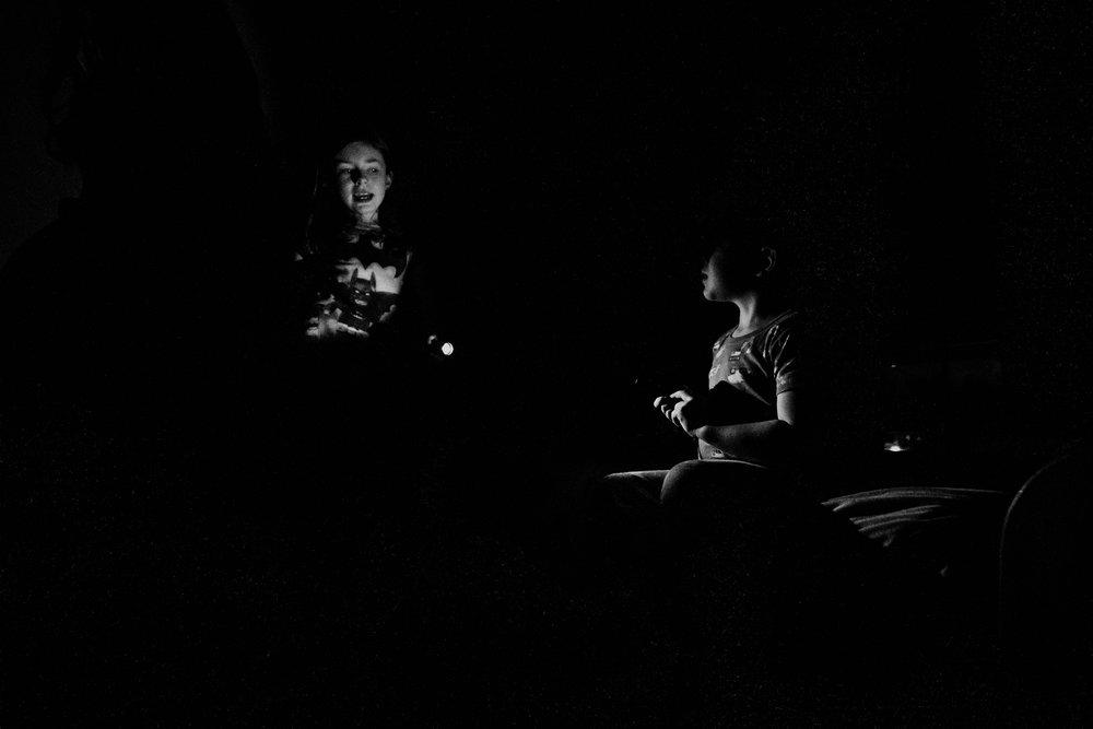 Flashlights in the dark