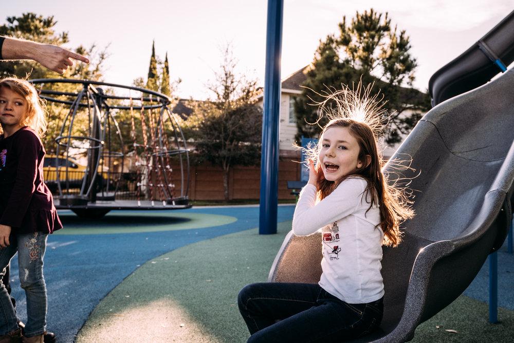 Winter at the playground