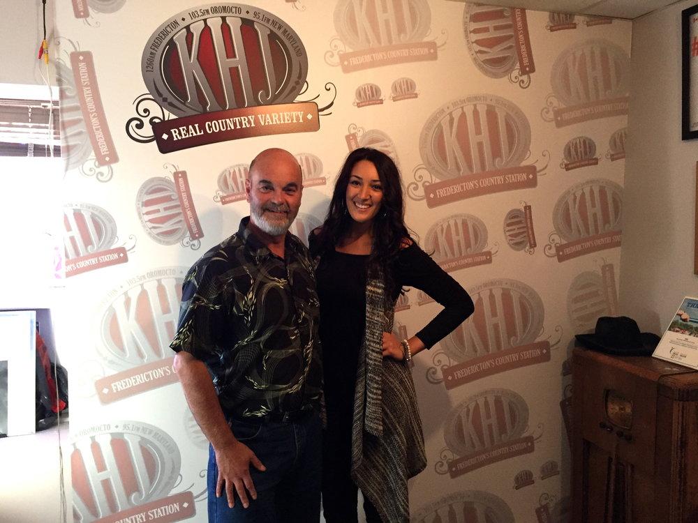 """""""Talk To Me"""" Radio Tour with KHJ (Fredericton, NB)"""
