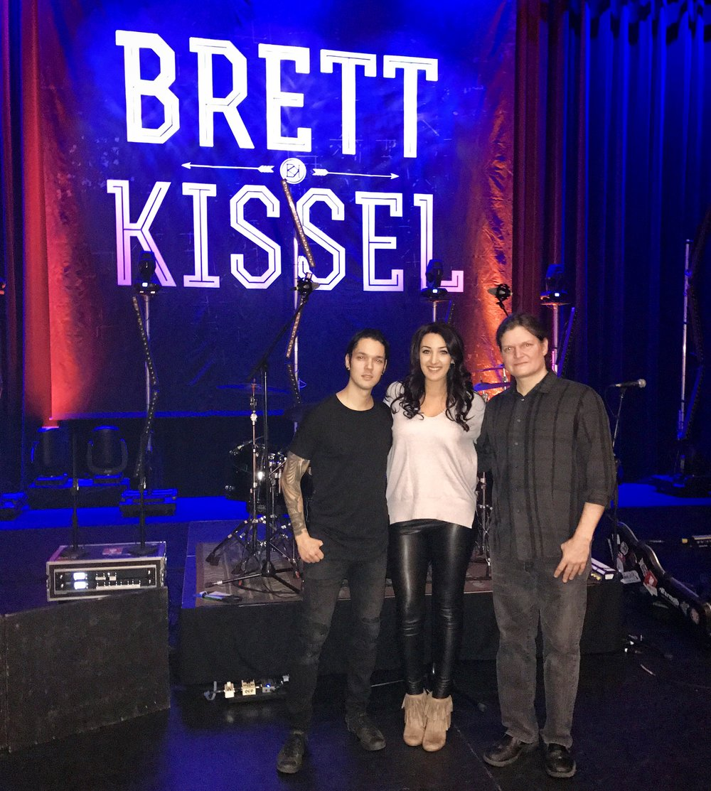 Before sound check, opening for Brett Kissel on his Ice, Snow & 30 Below Tour