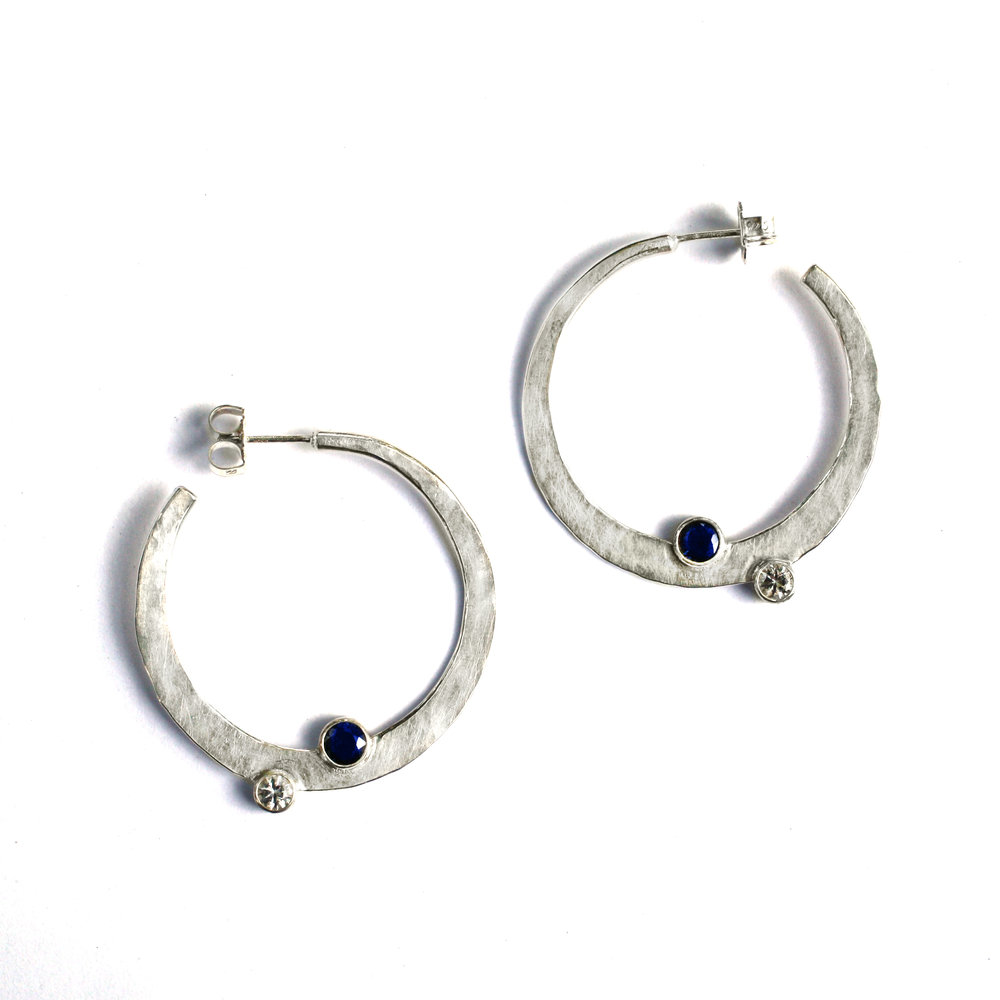 New Moon Hoop Earrings