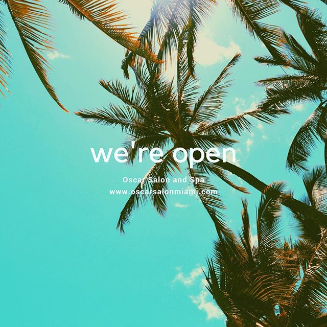 We're back #Miami 🌴 Appointments available. We'll see you soon!