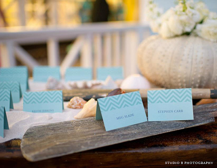 Beach Party Place Cards | Foglio Press