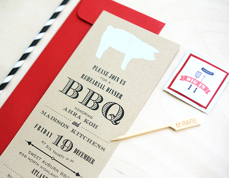 BBQ Party Invitation | Foglio Press