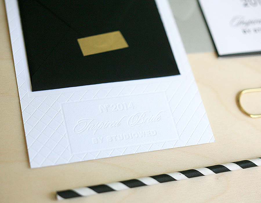 Letterpress Party Invitation | Blind Impression | Foglio Press