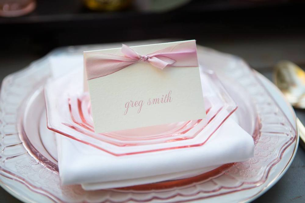 Blush Pink Party Place Card | Foglio Press