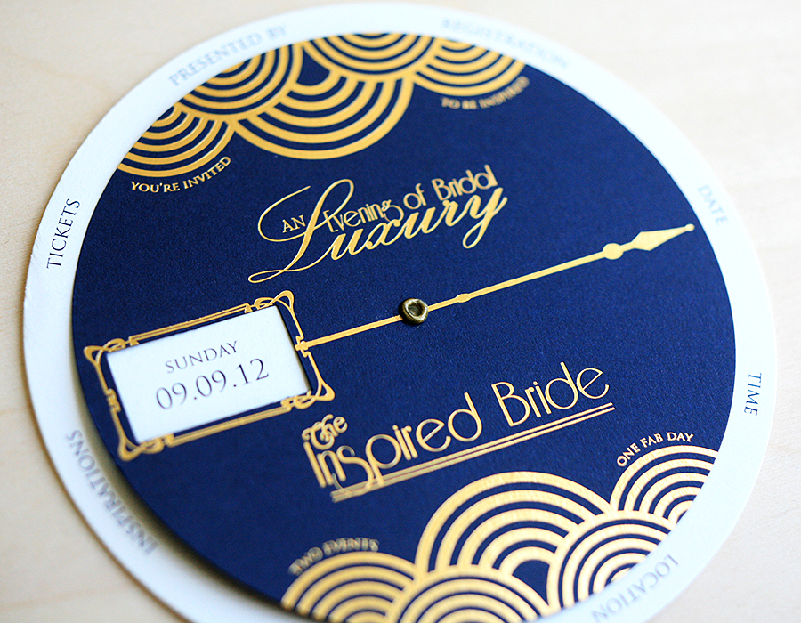 Gold Foil and Navy Invitation | Foglio Press