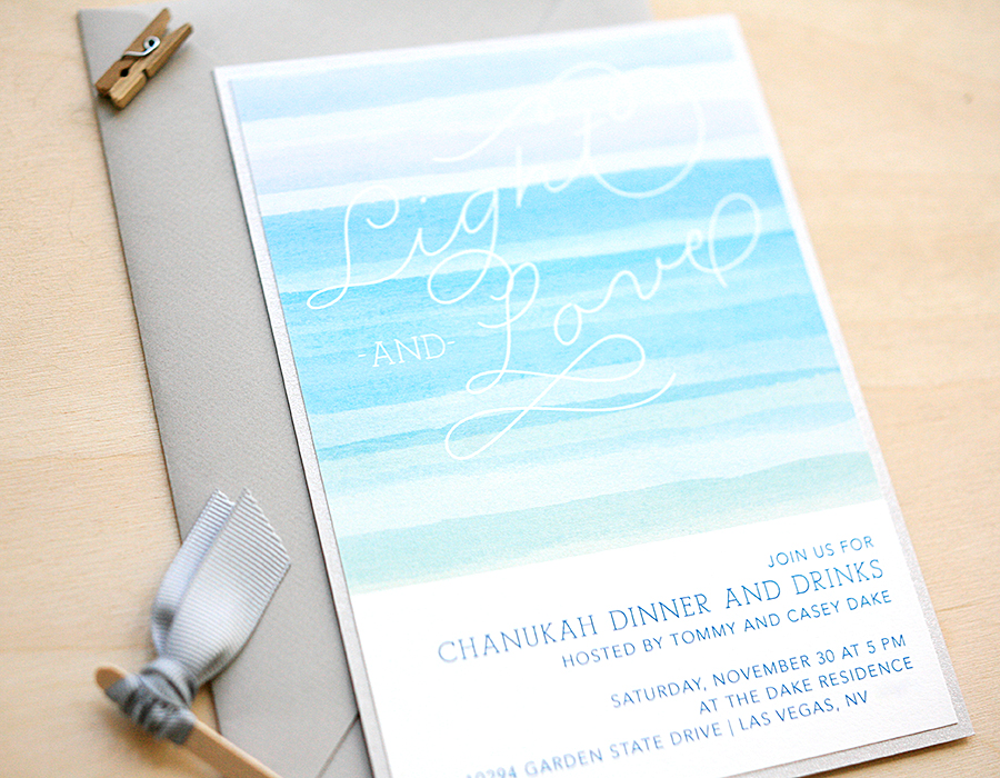 Watercolor Invitations | Foglio Press