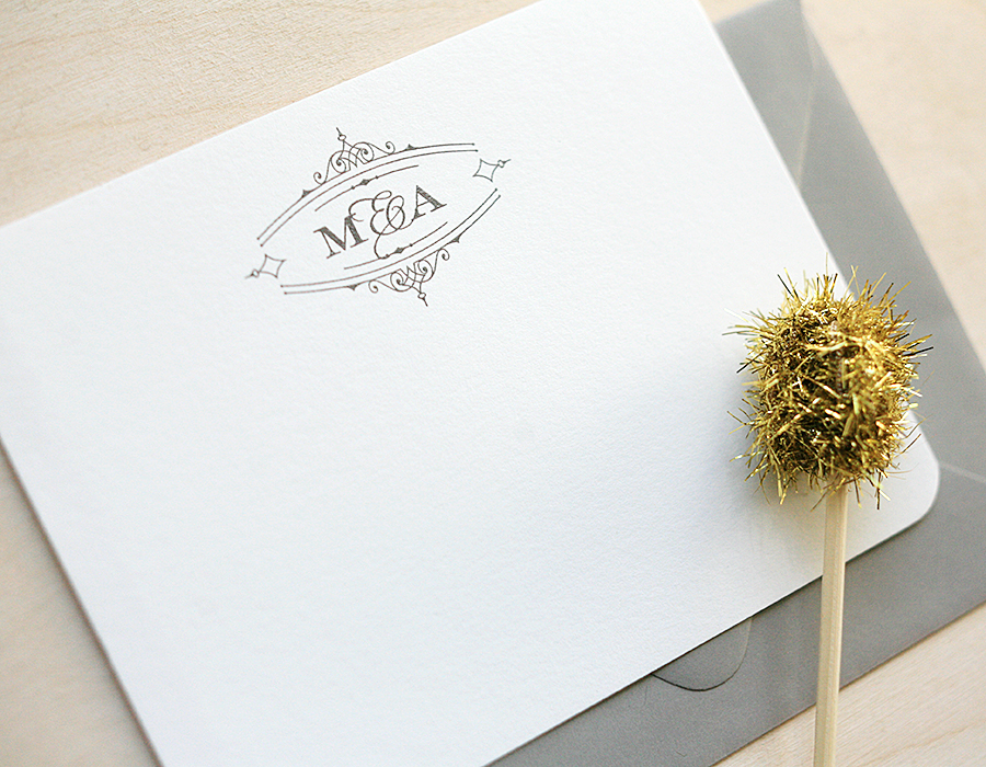 Monogrammed Thank You Notes | Foglio Press