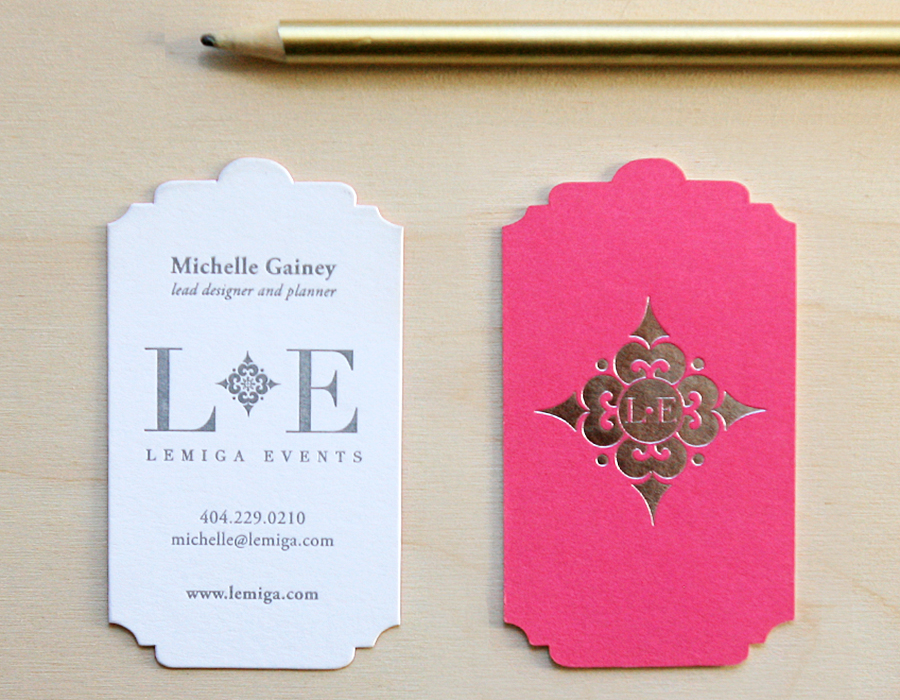 Die Cut, Foil Stamped Business Cards | Foglio Press