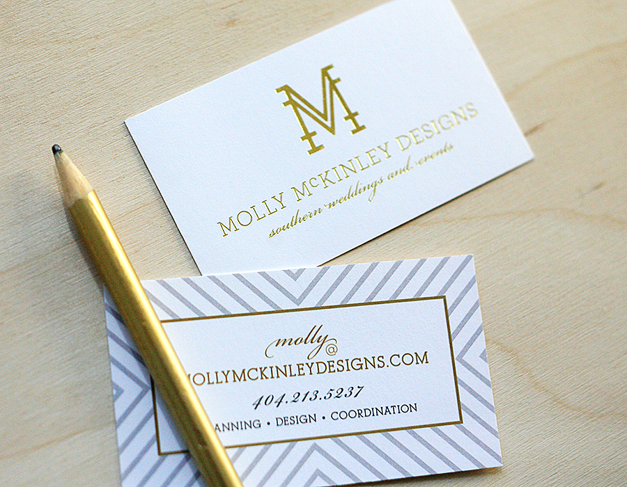 Foil Stamped Business Cards | Foglio Press