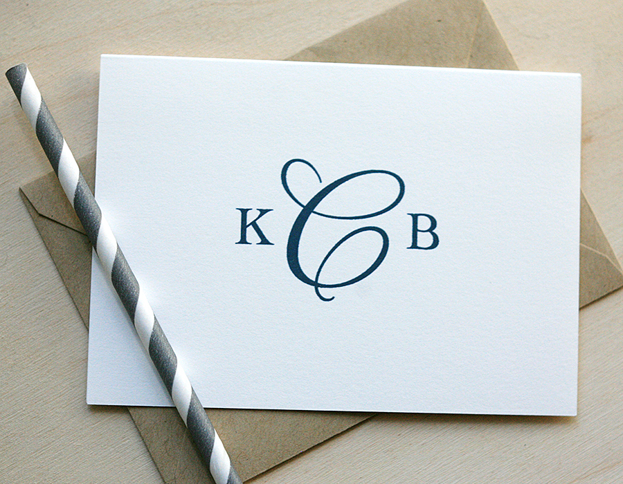 Monogram Stationery | Foglio Press