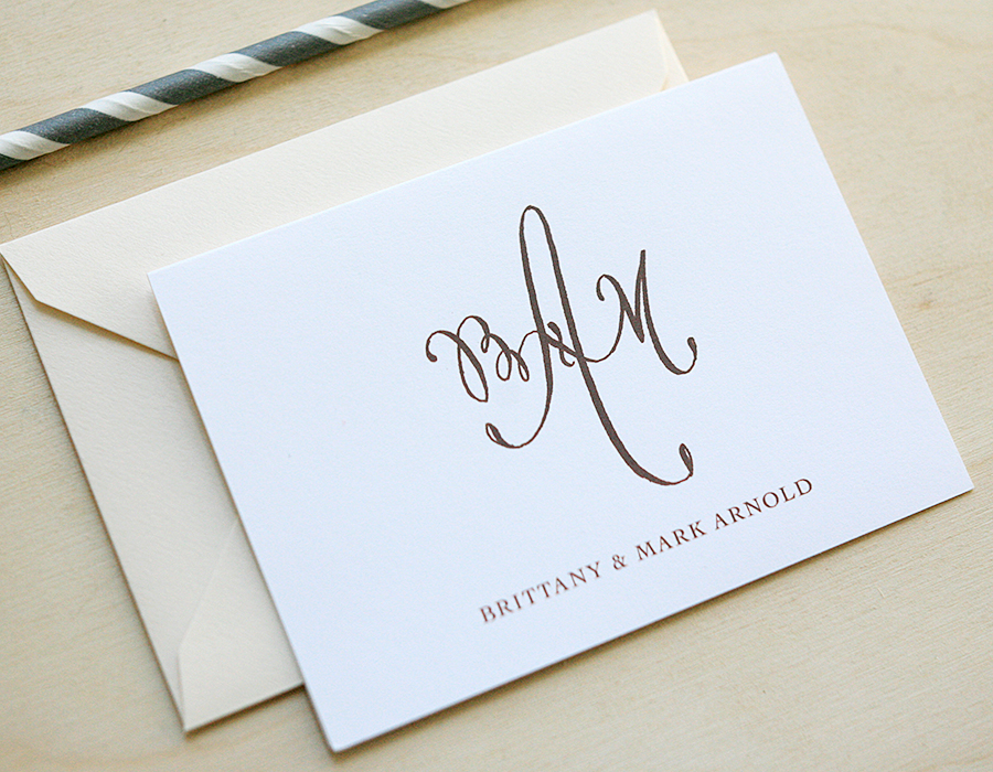 Monogram Thank You Notes | Foglio Press