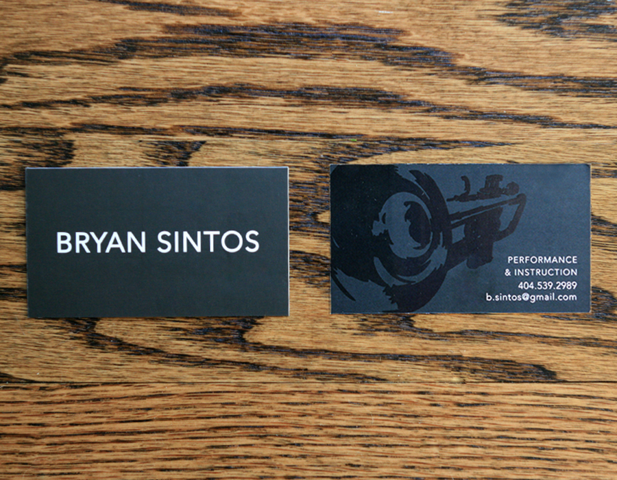 Spot UV Business Cards | Black Business Cards | Foglio Press
