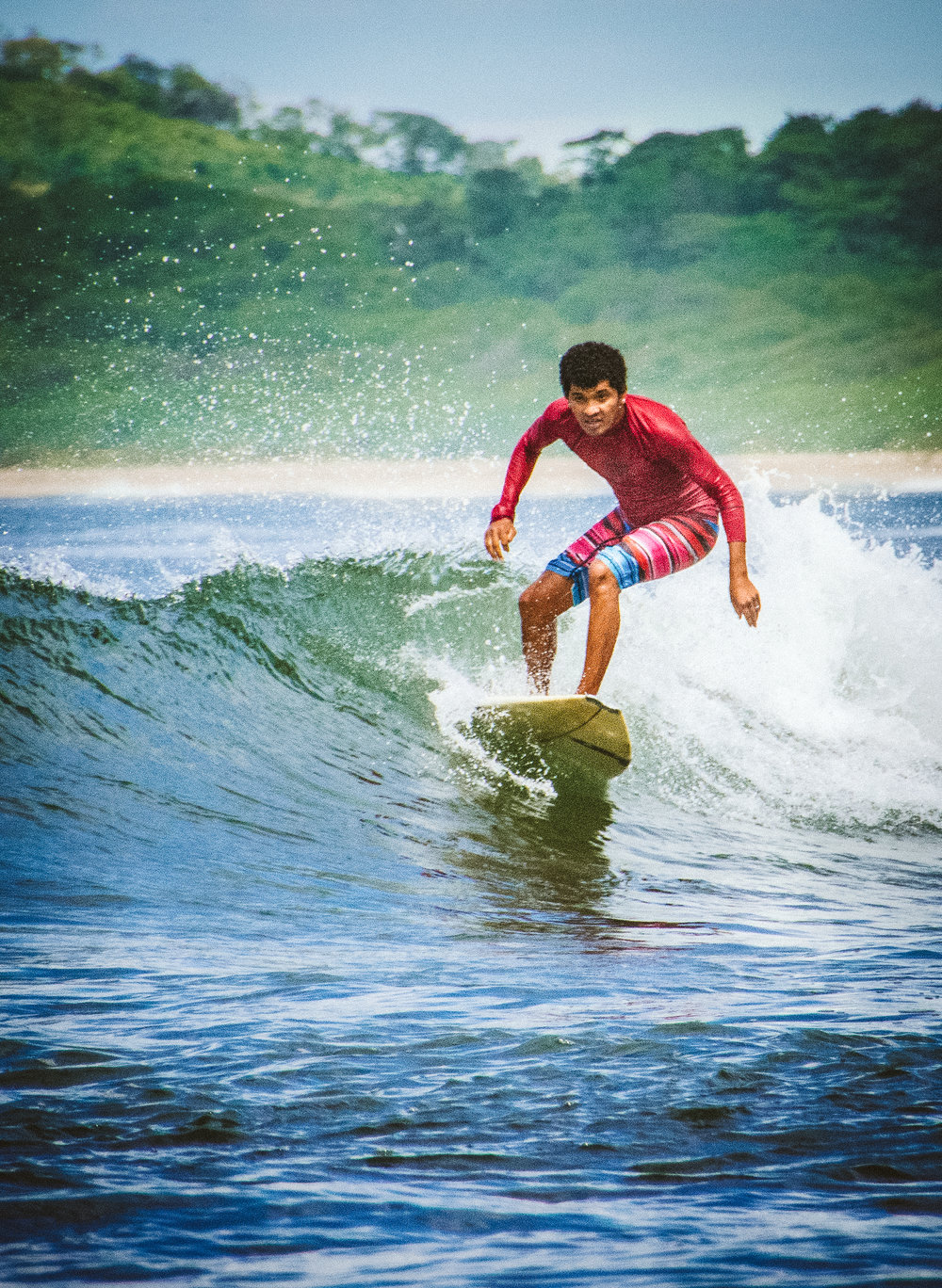 One of the local surf instructors took the morning off to shred some waves of his own in Tamarindo.