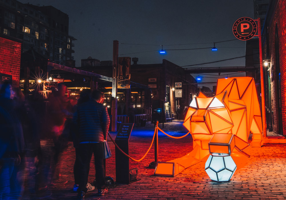 """Digital Origami Tigers"" by Laboratory for Visionary Architecture, Australia."