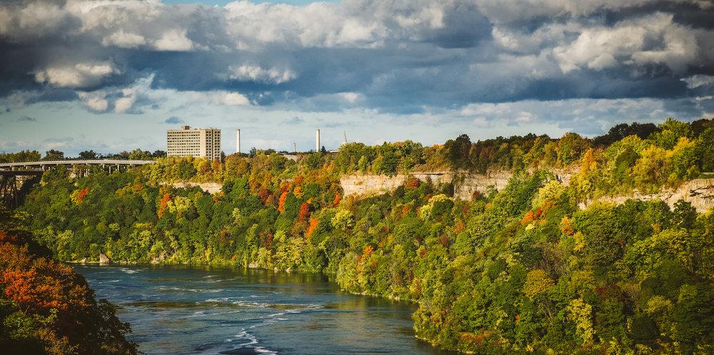 Crossing the Niagara River back into Canada.
