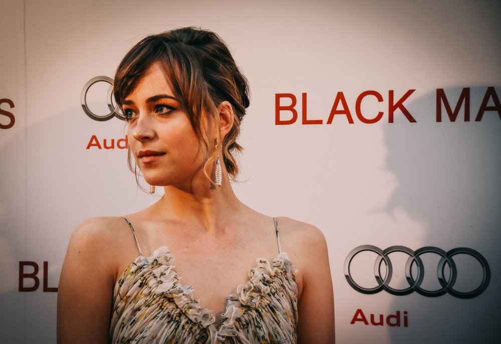 Dakota Johnson at the  Black Mass  pre-screening party.
