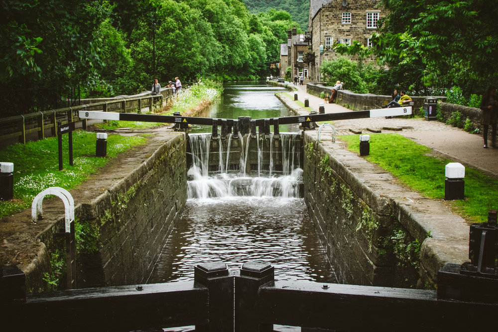Okay, this is the Rochdale Canal. The locks give it away.