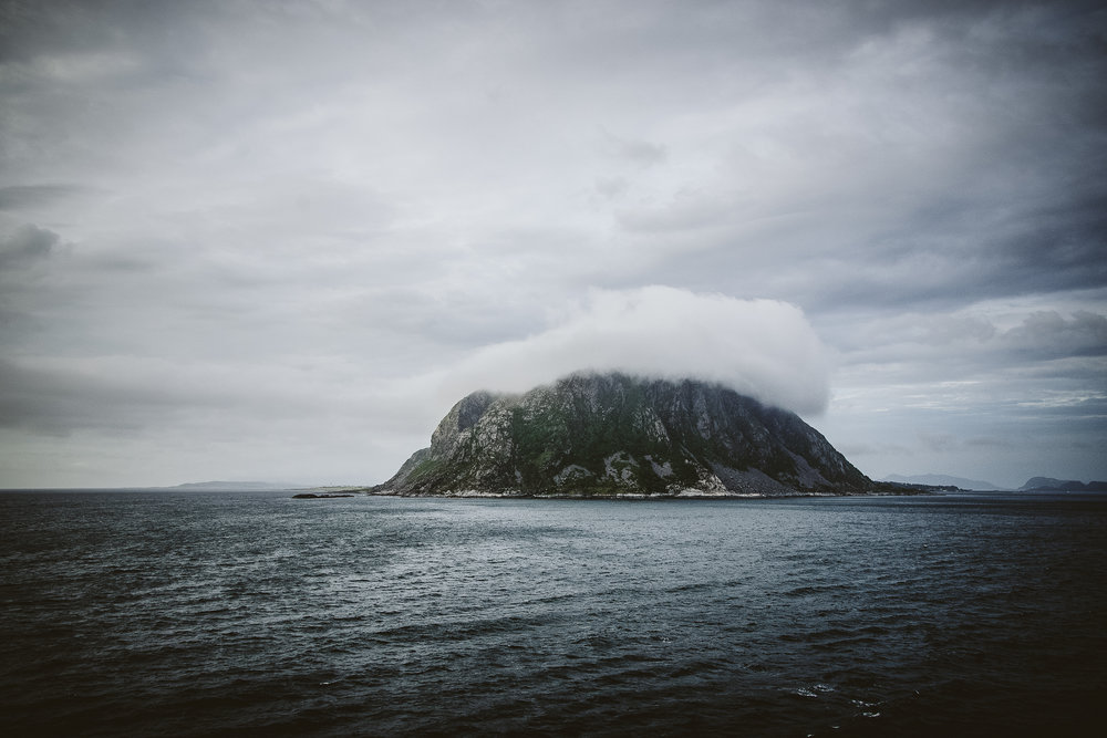 We spent a lot of time at sea so seeing land, even this small moody piece was a bit exciting.