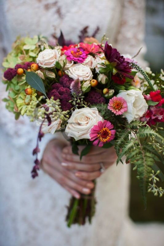 amaranthus wedding bouquet