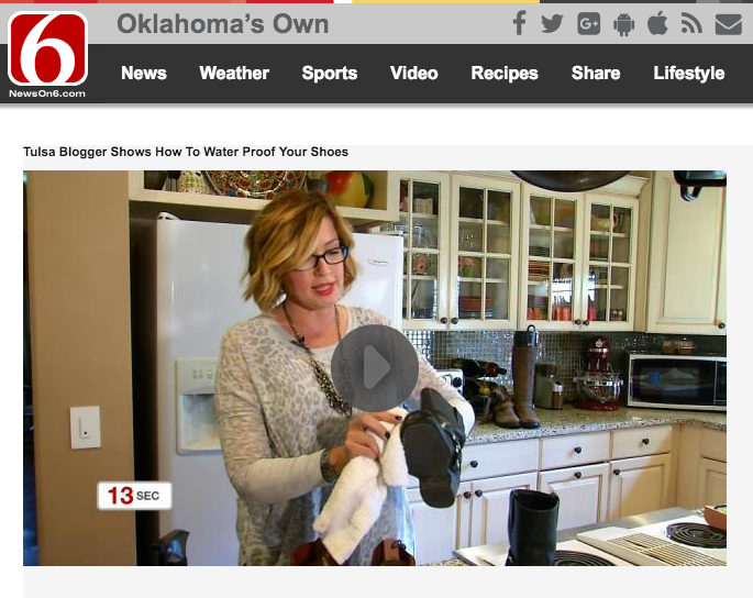 TULSA BLOGGER SHOWS HOW TO WATER PROOF YOUR SHOES — Chatter