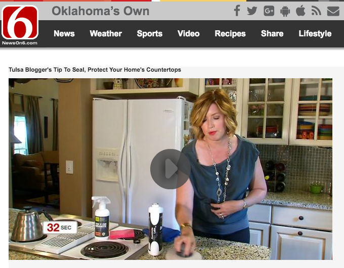 TULSA BLOGGER'S TIP TO SEAL, PROTECT YOUR HOME'S COUNTERTOPS