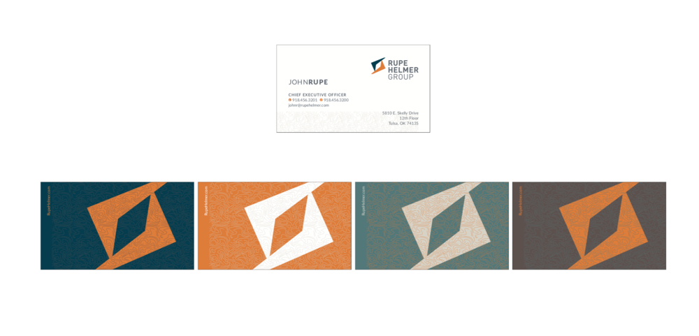 Rupe Helmer Business Cards
