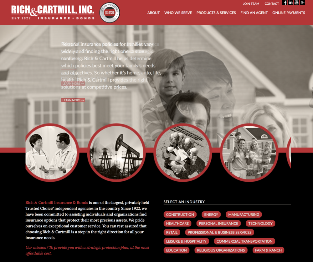 Rich & Cartmill Website - Chatter Marketing