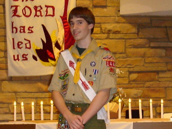 Me at my Eagle Scout ceremony on October 30, 2005.