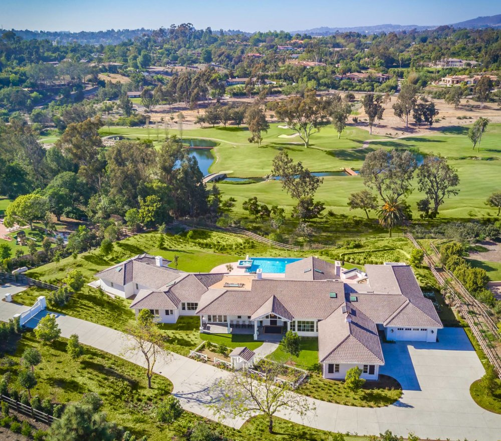 Overlooking the Rancho Santa Fe Golf Course
