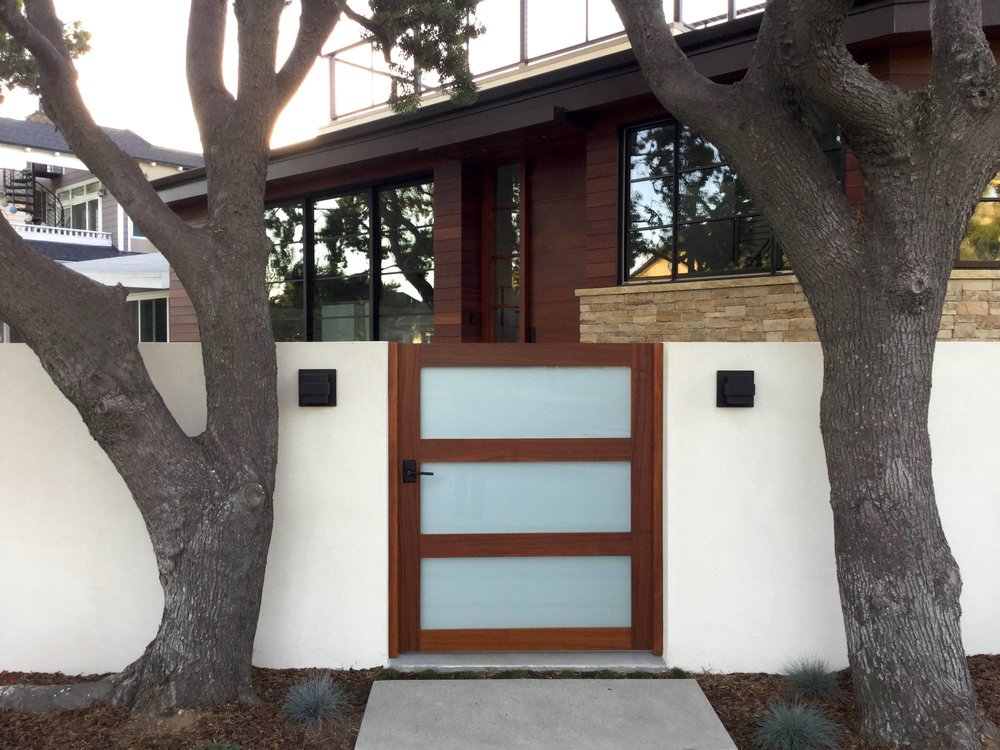 Glass And Wood Custom Entry Gate