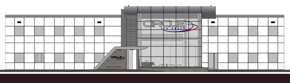 New facade and lobby design for Circle Air Group