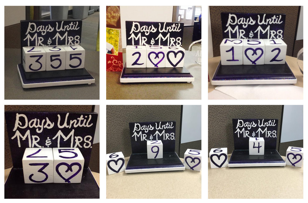 One of Kassandra's co-worker even made her countdown blocks.