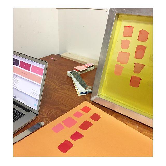 Gotta get that ink color juuuuuuuust right #pantone #waterbasedink #screenprinting