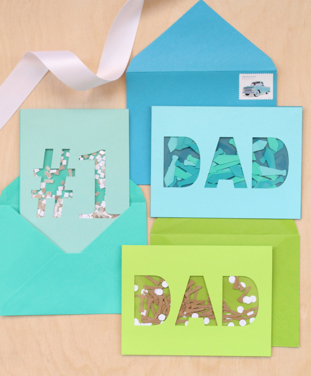 Father's Day Confetti Cards - Martha Stewart