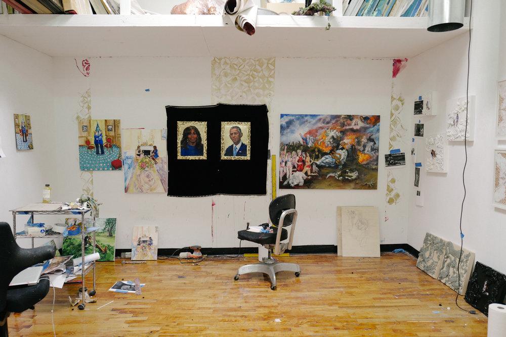 The artists' Brooklyn Studio